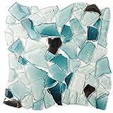 kitchen backsplash ideas Popular Baby blue Free Pattern Design12'' x 12'' Crystal Glass Tile Kitchen Backsplash Idea Bath Shower Wall Decor Home Building material- LSWZ01 (Pack of 10.76sq.ft )