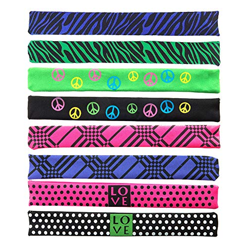 Slap Bracelets, Colorful Print Patterns Wrap Around Wrist Bands, Best Party Favor Snap Bracelet, Jewelry Wrap Bracelet, Also Used as Trouser Clips, Slap Bracelets Bulk Lot, Wholesale Lot of 24. ()