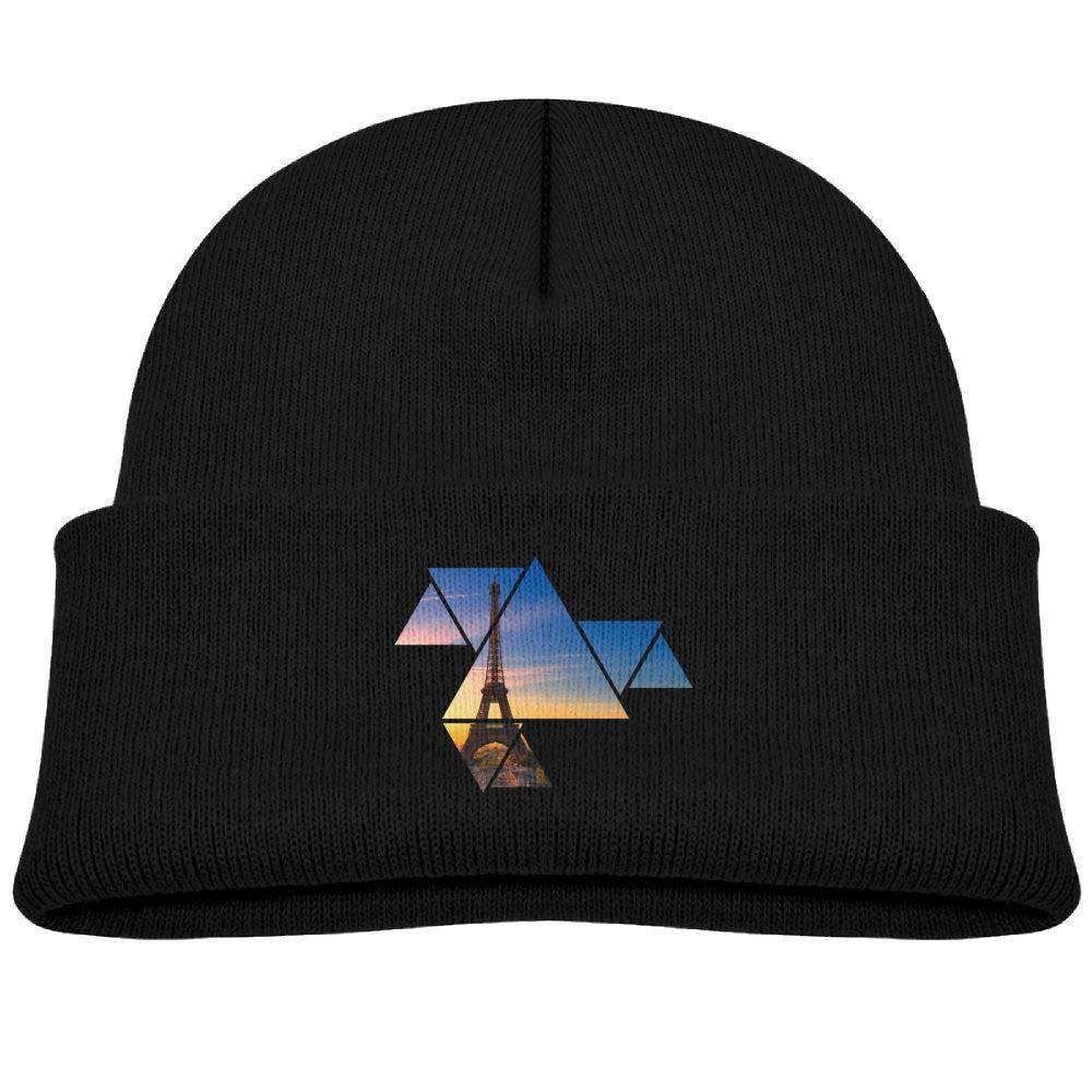 Fzjy wnx Geometric Triangle Tower Wool Skull Hats Soft Boys 0-3 Old