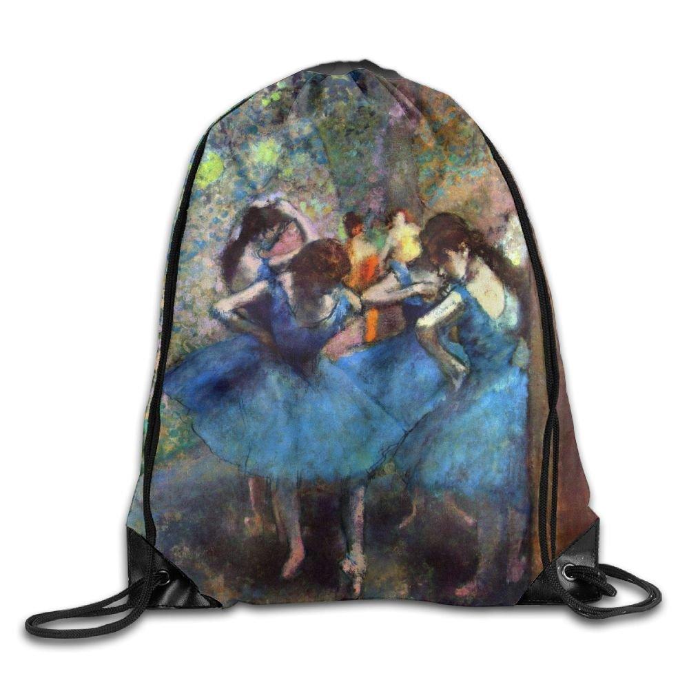 Dancerガールズ折りたたみスポーツバックパック巾着バッグポリエステルファブリックトートバッグメンズ&レディース学校旅行バックパック B07C126PDN