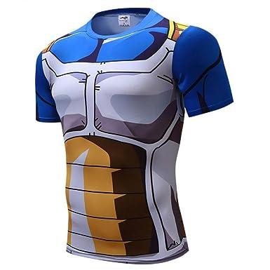 e6207cc76 Amazon.com  Goku Vegeta Dragon Ball Z DBZ Compression T-Shirt Muscle ...