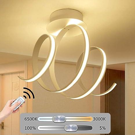 LED regulable lámpara de techo lámpara dormitorio moderno ...