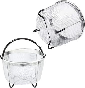 Panier vapeur ZZM 20 cm Insert Panier de cuisson en acier inoxydable InstaPot Pressure Cooker Ultra Panier /Égouttoir