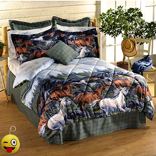 6 Pieces TWIN SIZE Comforter Set (66