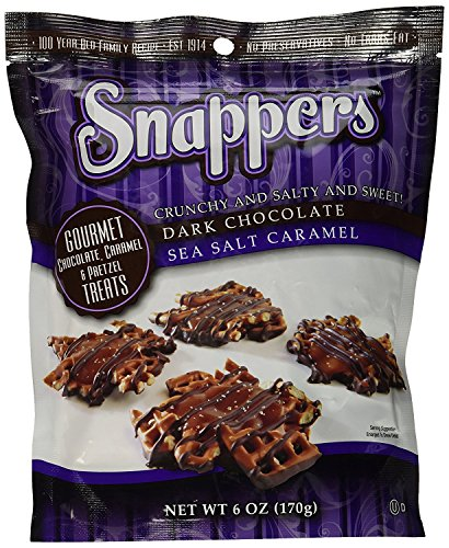 (Snappers Dark Chocolate Sea Salt, 6 Ounce - Pack of 2)