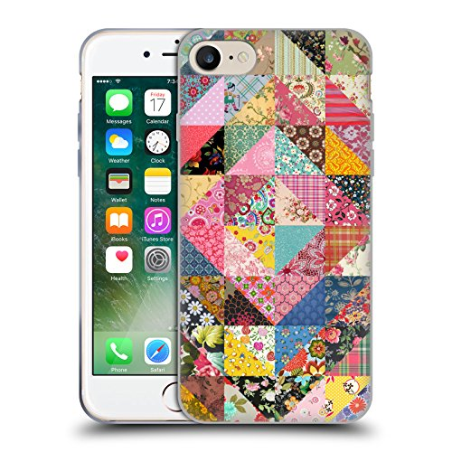 Official Rachel Caldwell Quilt Patterns Soft Gel Case for Apple iPhone 7 / iPhone 8