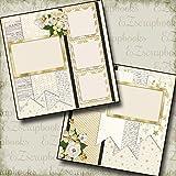 WEDDING - TEN - Premade Scrapbook Pages - EZ Layout 672