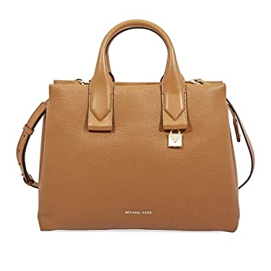 aea2469415ea Michael Kors Rollins Large Pebbled Leather Satchel- Acorn: Handbags ...