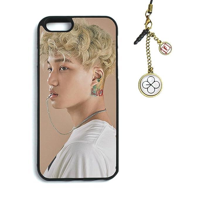 premium selection 834b3 35c7e Fanstown Kpop EXO iPhone 6/6s case EX'ACT + Dust Plug Charm (C18)