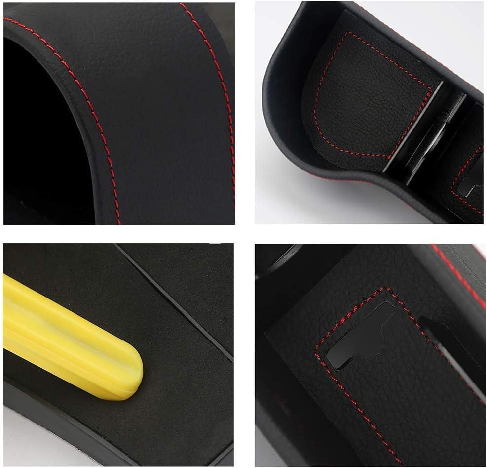 Bo/îte de rangement porte avant pour voiture N, L Bo/îte de Rangement Lat/érale pour Si/ège de Voiture Gauche Collector Int/érieur de Voiture Accessoires Cuir PU Organiseur Voiture Couture