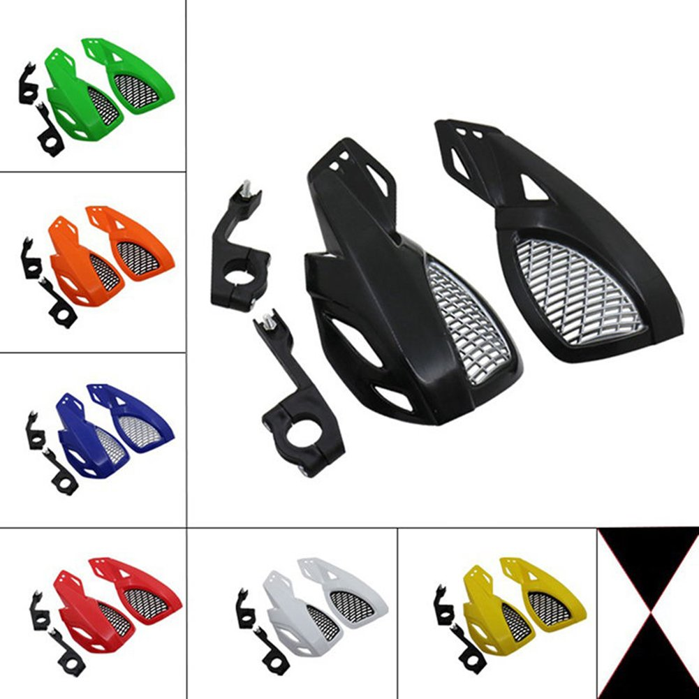 RONSHIN 2 PCS Motorcycle Dirt Bike Scooter Handle Bar Hand Guards Hand Protector Red