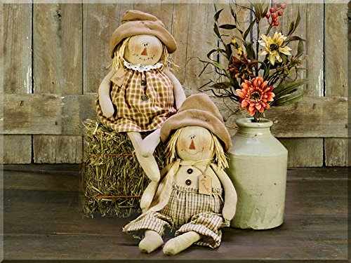 Honey In Me Chandler and Monica Scarecrow Set Honey and Me