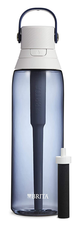 Brita 36386 Premium Water Filter Bottles, 26oz, Night Sky
