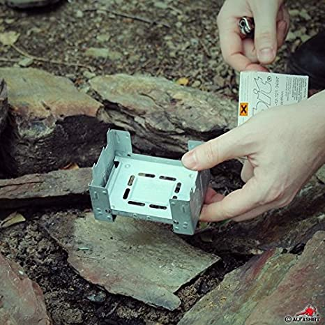 Esbit Pocket Stove Dry Fuel Camp Fire Adventure Adventure Cook Camping Hiking Survival Camping Hiking Cooking Equipment # 16378