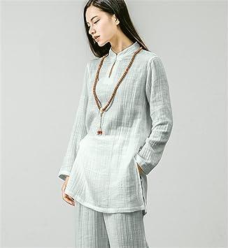 peiwen Puro algodón Ropa de Yoga Traje/Camisa + Pantalones ...