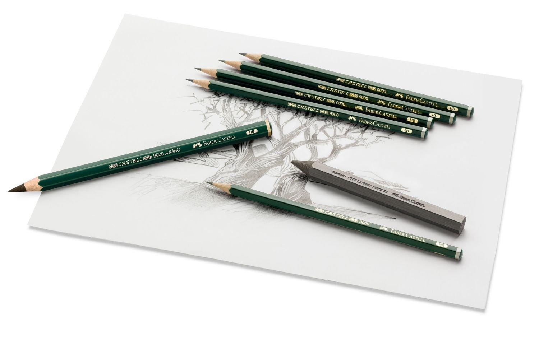 Faber-Castell Castell 9000 Black Lead Pencils 8B
