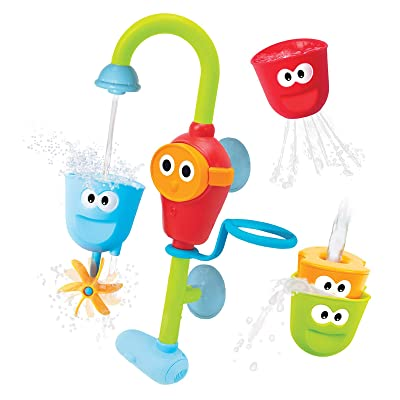 Yookidoo Baby Bath Toy - Flow N Fill Spout - 3 Stackable Cups and Automated Spout : Bathtub Toys : Baby
