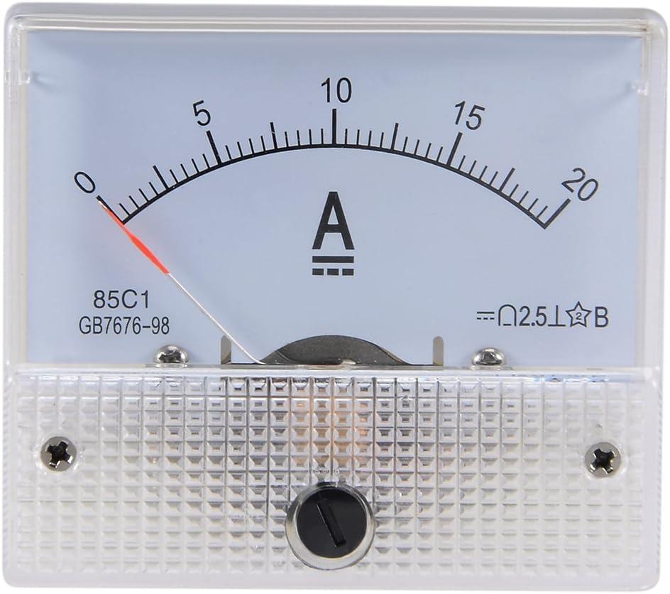 sourcing map Amper/ímetro probador 85C1 DC 0-50 un rect/ángulo panel anal/ógico Indicador 85C1 DC 20A
