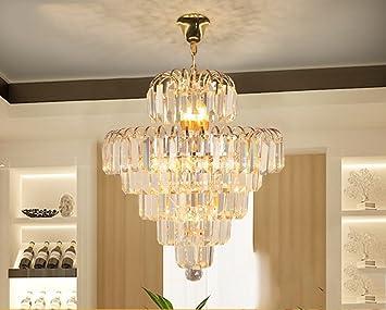 Lampadari di cristallo di lusso di oro dell oro led cristallo sala