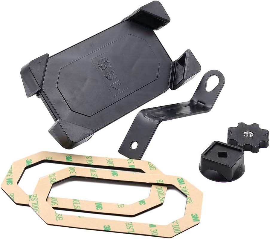 GPS 360/° para tel/éfono m/óvil ECMQS Soporte para Espejo retrovisor de Motocicleta