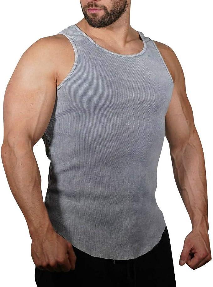 Tee top Homme Slim Fit Débardeur Gilet Tank Uni Muscle Sport GYM d/'été