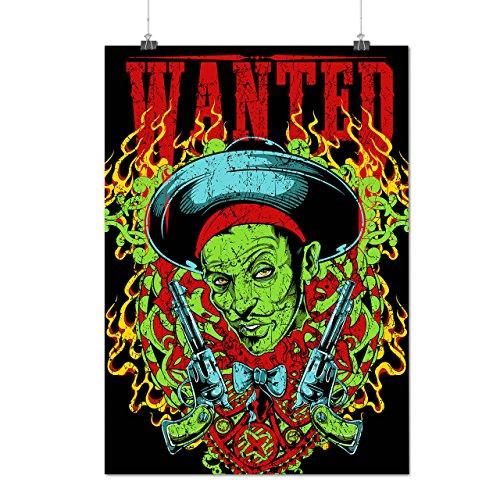 Zombie Mobster Costume (Sombrero Zombie Gangster Crime Gun Matte/Glossy Poster A3 (42cm x 30cm) | Wellcoda)