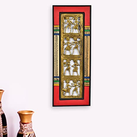 Charmant ExclusiveLane Dhokra Work U0026 Warli Handpainted Vertical Wall DÃcor   Indian  Decorative Items For Home Gift