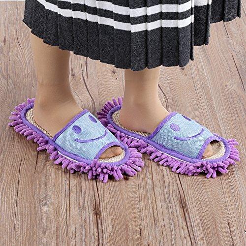 per Pantofole Viola Morbido Lavabile Mop Pulire Pulizia Pantofole il Cucina Microfibra e Pavimento Casa Ciabatte Mocio Bagno CAMMELLO in Mop Pantofole Pattine Ufficio BOBn0qEg