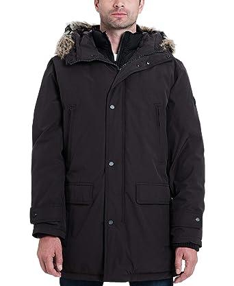 b99dfdc6dff Michael Kors Men's Heavyweight Hooded Snorkel Parka Coat with Bib