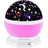 SnowCinda Kids Night Light Toys for 2-8 Year Old Girls Gifts, Moon Star Projector Light for Kids, 360 Degree Rotation and 8 C