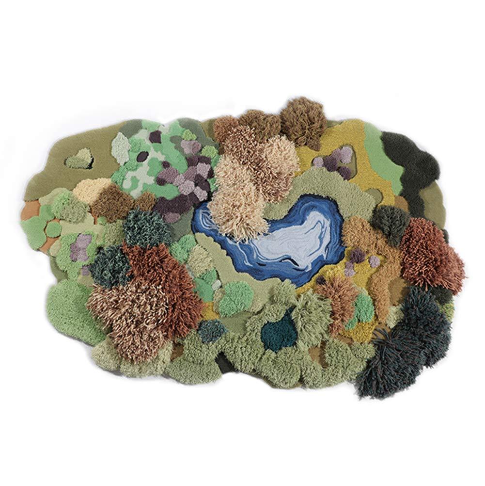 手織り ラグ 緑の森創造的な人格の芝生のカーペット 約150×230cm 手作りカーペット   B07HLGRZQF