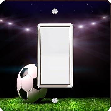 Balón de fútbol sobre fondo negro cuadrado - luz Swi: Amazon.es ...