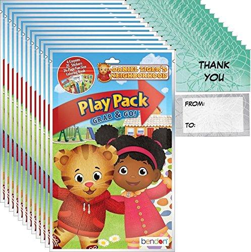 Daniel Tiger's Neighborhood Grab n Go Play Packs Party Favor Bundle (12 Packs) and 12