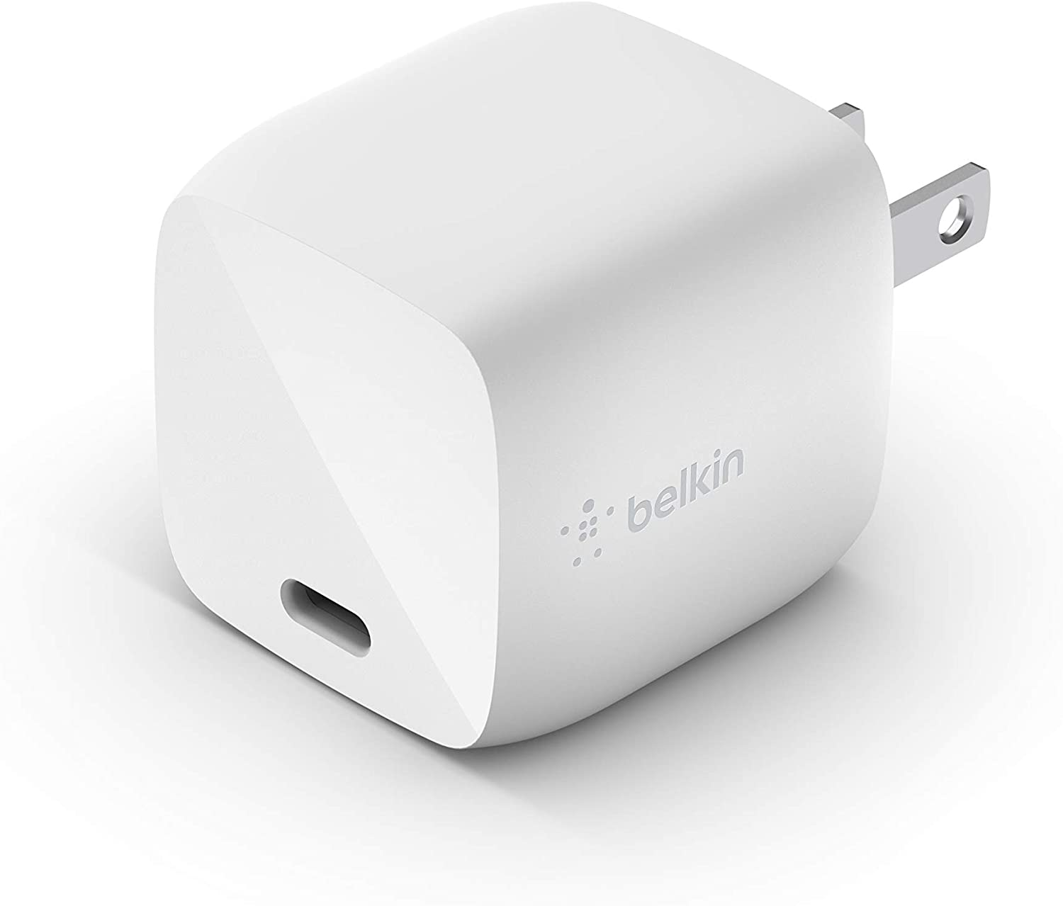 Belkin USB-PD GaN Charger 30W (USB-C Fast Charger Designed for iPhone, MacBook Air, iPad Pro, Pixel, Galaxy, More) iPhone Fast Charger, USB-C Power Delivery (WCH001dqWH)