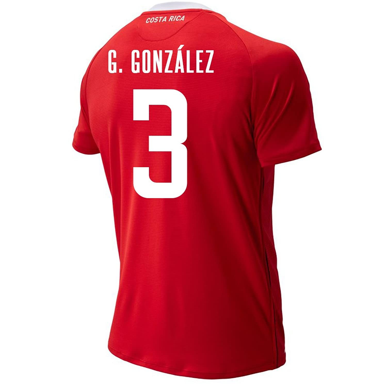 New Balance Men's G. Gonzalez #3 Costa Rica Home Soccer Jersey FIFA World Cup Russia 2018/サッカーユニフォーム コスタリカ ホーム用 ゴンサレス #3 B07CZ2D58W US Small