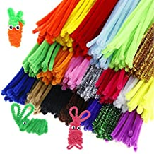 Caydo 500 Pieces Chenille Stems Pipe Cleaners 6 mm x 12 Inch, Smooth Processing at Both Ends, Safe and Humanized Design for DIY Art Craft