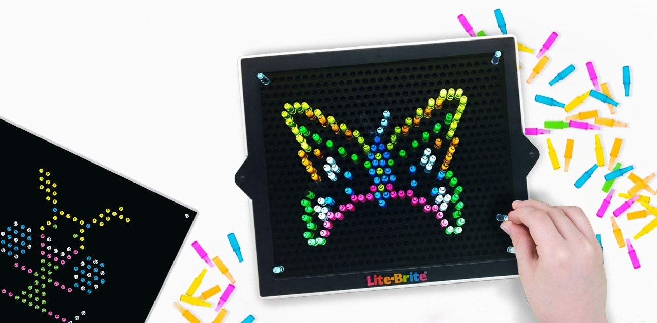 Incompatible with Old Retro Lite Bright Toy 10 Pack IllumiPeg | Little Miss Princess Unicorn Butterflies Lite-Brite Ultimate Classic Refills 7X 8