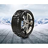 Car Auto Tyre Tire Snow Chain Anti-skid Chains Thickened Beef Tendon TPE Steel Nail TPU (Black)