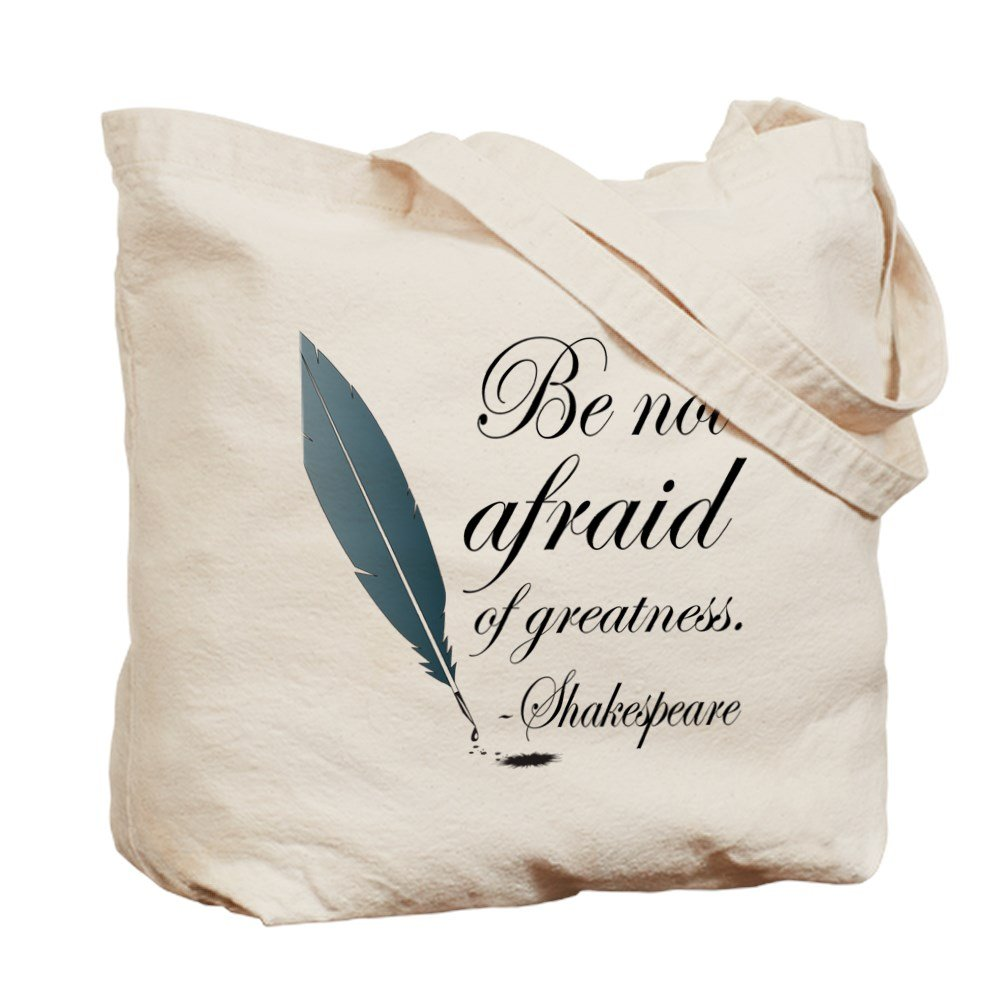 67ad747ba3 Amazon.com  CafePress - Shakespeare Greatness Quote - Natural Canvas Tote  Bag