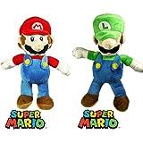 Mario Plush Toy Set Bundle contains Super Mario Bros Mario And Luigi 12 Inch Plush