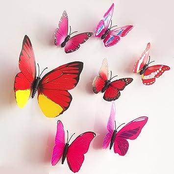 Fantastisch 12pcs Bunt Schmetterling Wandaufkleber Mode Entwurf DIY Herausnehmbar Kunst  Dekor Wandtattoo Für Baby Schlafzimmer Wanddekoration (