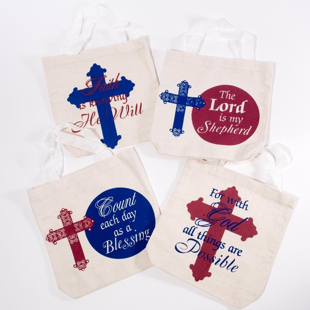 Religious Canvas Tote Bag