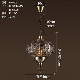 ShengYe Lámpara colgante de techo estilo rústico Retro barra ...