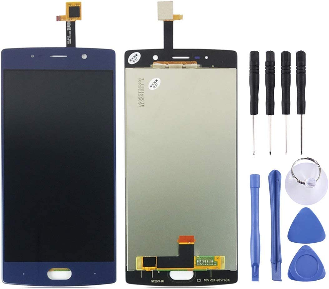 EasePoints for Repair Part LCD Screen and Digitizer Full Assembly for Doogee BL7000 Black Color : Blue