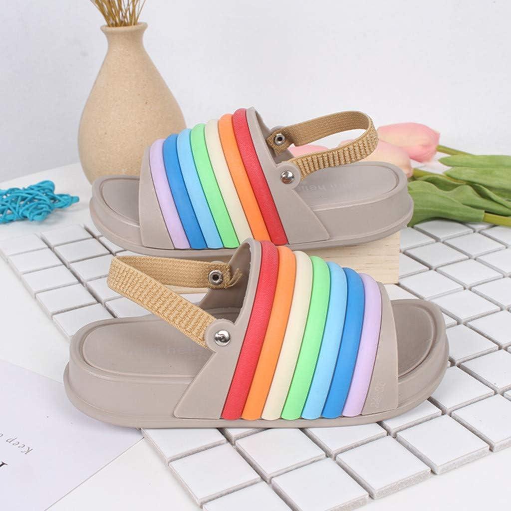 PLOT/_Home Summer Toddler Sneakers Infant Sandals Kids Slippers Girls Boots Boys 3-6 Months Sock Rainbow Flip Flops Beach Slides Soft Babies First Shoes