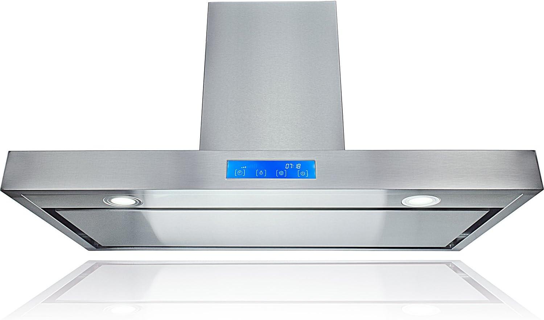 AKDY AZ-62790PS2 campana de cocina de 36 pulgadas con soporte de pared de acero inoxidable con filtros de deflector plano: Amazon.es: Grandes electrodomésticos