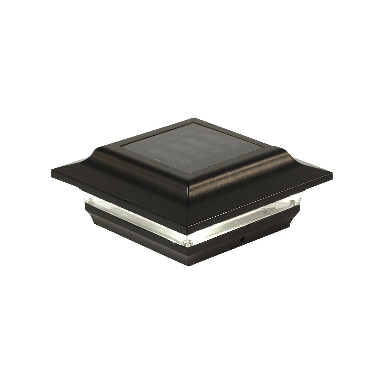 Classy Caps SL211B Aluminum Imperial Solar Post Cap, 4'' x 4'', Black