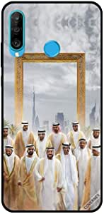 For Huawei P30 Lite Case UAE Rulers in Front of Dubai Frame