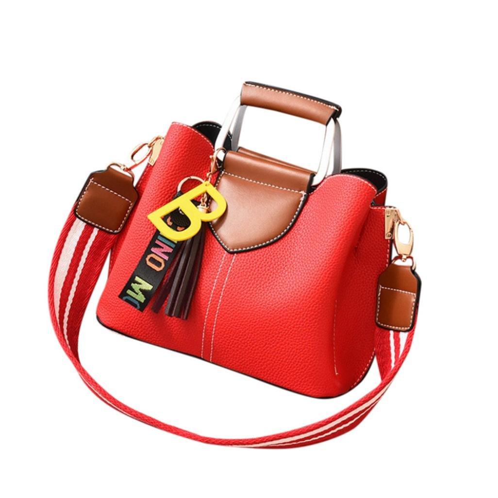 SanCanSn Women Tassels Crossbody Bag Shoulder Bag Messenger Bag Fashion Handbag (1PC, Wine)