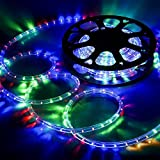 DELight 12m(40ft) RGBY Bright LED Rope Light/Strip Light Waterproof Outdoor Indoor Home Party Decora